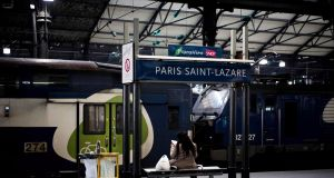 Gare Saint-Lazare in Paris: after months of rolling SNCF strikes, the public has grown tired. Photograph: Philippe Lopez/AFP/Getty