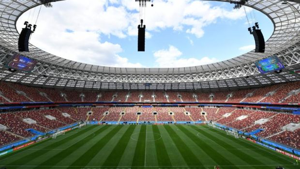 The Luzhniki Stadium in Moscow, which will host the tournament's opening fixture on June 14th. Photograph: Dan Mullan/Getty