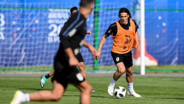 Uruguay's Edinson Cavani is a contender for the golden boot. Photograph: Martin Bernetti/AFP