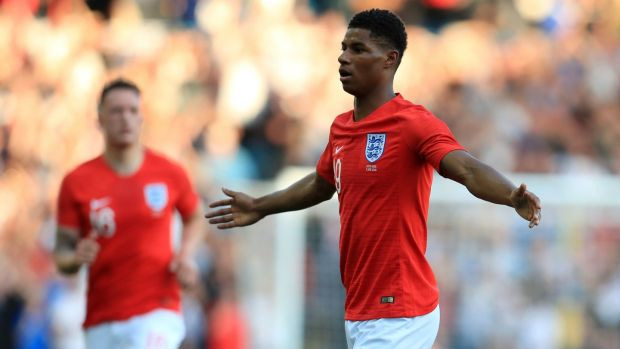 Marcus Rashford is among England's young attacking talents. Photograph: Mike Egerton/PA