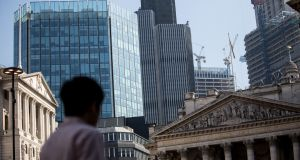 The City of London: New blow as Standard Chartered chooses Warsaw for new hub. Photograph: Bloomberg