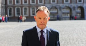 RTÉ crime correspondent Paul Reynolds is pictured at Dublin Castle where he was giving evidence to the Charleton Tribunal.  Photograph: Gareth Chaney/Collins.