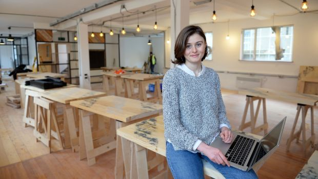 Nichol Gray, manager, Creative Co-Working Space at The Tara Building Dublin. Photograph: Eric Luke