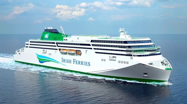 Artist's impression of Irish Ferries on the WB Yeats webpage