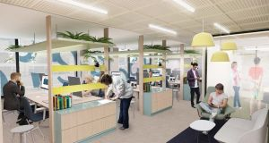 An artist's impression of what the Danske Bank work space would look like.