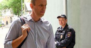 "Russian opposition leader Alexei Navalny freed after a 30-day sentence: ""If you are planning to breach public order you had better hurry...""  Photograph: Kirill Kudryavtsev/AFP/Getty"
