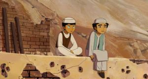 A scene from 'The Breadwinner', by Cartoon Saloon