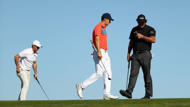 Rory McIlroy, Jordan Spieth and Phil Mickelson were a combined 25-over after the opening day of the US Open. Photograph: Streeter Lecka/Getty