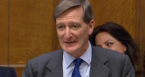 Former UK attorney general Dominic Grieve speaking in a debate on Brexit legislation in the House of Commons on Tuesday. Photograph: AFP/Getty Images