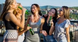 Research from Loyola Marymount University says women between 18 and 20 who binge drink run the risk of damaging their bones. Photograph: Getty stock