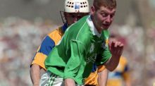 Limerick's Ciaran Carey in action against beats Clare's Ger O'Loughlin at the Gaelic Grounds in 1996. Photograph: Lorraine O'Sullivan/Inpho