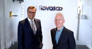 Alastair Hamilton (left) chief executive of  Invest NI and Patrick McAliskey, managing director, Novosco.
