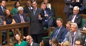 Conservative MP Jacob Rees-Mogg: engaging in a tactic to try to blame somebody else for the consequences of Brexit.  Photograph: PA