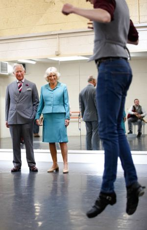 The Prince of Wales and Dutchess of Cornwall, watching a rehearsal by ANAM, on a visit to Siamse Tire, Tralee .PIC KENNETH O HALLORAN /JULIEN BEHAL PHOTOGRAPY