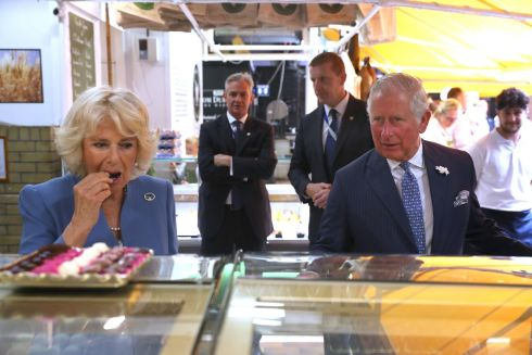 The royal couple take in the sights at the English Market in Cork. Photograph: Steve Parsons/PA