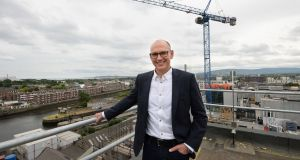 Chris Hyams of Indeed, on the rooftop of the company's  new offices at Capital Docks, Grand Canal Docks, Dublin. Photograph: Dara Mac Dónaill / The Irish Times