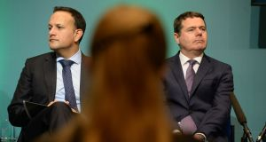 Big test: Taoiseach Leo Varadkar and Minister for Finance Paschal Donohoe. Photograph: Dara Mac Dónaill
