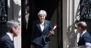 Trouble ahead: British prime minister Theresa May. Photograph: Stefan Rousseau/PA Wire