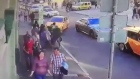 Eight injured as taxi drives into pedestrians in Moscow