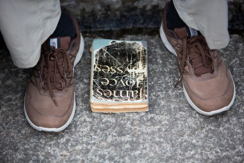 Bloomsday,Joyce Tower, Sandycove, Dublin. The Book Ulysses. Photo: Tom Honan.
