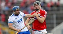 Cork's Mark Coleman with Colin Dunford of Waterford in action during the Munster SHC round-robin match at Semple Stadium. Photograph: Oisín Keniry/Inpho