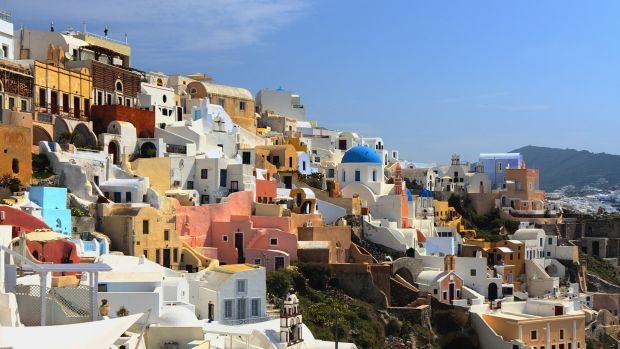 "Santorini, one of the world's top island destinations, has reached ""saturation point"", its mayor says. Photograph: Getty Images/iStockphoto"