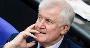 On Monday, federal interior minister Horst Seehofer from Bavaria (above) will present a new migration plan to close German borders to asylum-seekers arriving from other EU countries. File photograph: Clemens Bilan/EPA