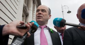 Denis Naughten said Britain's exit from Euratom was discussed at a recent gathering in Dublin Castle of the UK-Ireland Contact Group, which meets twice a year. Photograph: Gareth Chaney/Collins