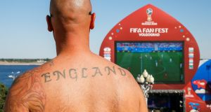 Only 2,500 England fans are expected in Volgograd. Photograph: Gleb Garanich/Reuters