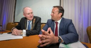 Dr Ray Walley with Taoiseach Leo Varadkar in 2015. Photograph: Dylan Vaughan.