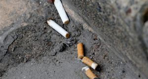 Cigarette butts: make up for more than 56 per cent of Irish litter. Photograph: Regis Duvignau/Reuters