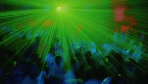 Ibiza anthems: a laser show at Amnesia, the Balearic nightclub. Photograph: Leelu/Getty