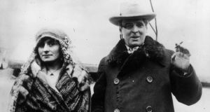 Renvyle honeymoon: WB Yeats with his wife, Georgie Hyde-Lees. Photograph: Keystone/Getty