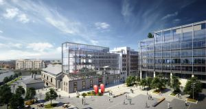 An artists impression of Hanover Quay.