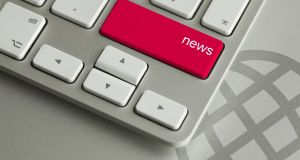 "How it works: All self-respecting modern newsroom keyboards are equipped with special ""news"" buttons that automatically generate popular stories. Image: iStock."