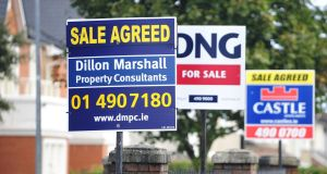 Latest figures show Irish property prices rose by 13 per cent in the year to April, against a background of tight supply. Photograph: Aidan Crawley/Bloomberg