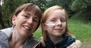 Siofra Coffey and her daughter, Riona Pagan (10). After a break from all medicines, Riona will undergo six rounds of chemotherapy which will be done at home.