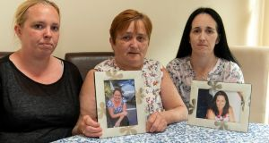 The late Olivia Dunlea's mother Ann (centre) with the murdered woman's sisters Anne and Amanda. Photograph: Michael Mac Sweeney/Provision