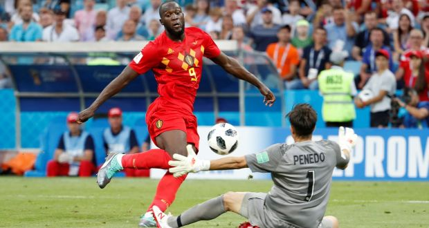 84bd5a24a Belgium s Romelu Lukaku scores their third goal during the World Cup Group  G game against Panama