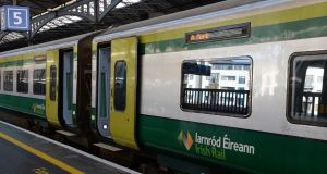 Last year 43 incidents of physical assault were reported on Irish Rail trains, up from nine reports in 2016.  Photograph: Eric Luke