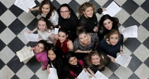 National Concert Hall Female Conductor  Finale: 12 young conductors gather on Wednesday. Photograph: Mark Stedman