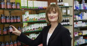 "Niamh Boden, owner of the Dunville Pharmacy in Ranelagh, Dublin: ""When I started to take an interest in plant medicine I realised that a lot of the phytochemicals present in plants can have a similar reaction in the body to chemical medicines but are much gentler."" Photograph: Nick Bradshaw"