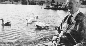 Ally Bunbury's grandfather Eric Craigie by the lake he created