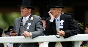 Ruby Walsh and AP McCoy at day one of Ascot yesterday. Photograph: Andrew boyers/reuters