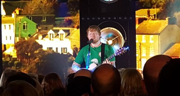 Ed Sheeran wows intimate crowd at London Irish Centre