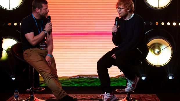 Ed Sheeran in conversation with Dermot O'Leary.