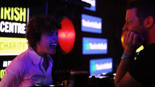 Annie Mac and Dermot O'Leary kicked off the after party at the London Irish Centre.