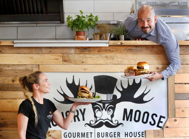 Chris Telford, co-owner, and Eimear Jacob, manager, at The Hungry Moose in Kilkenny.