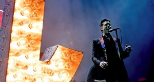 The Killers take to the stage at the RDS on June 26th. File photograph: Kevin Winter/Getty Images