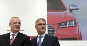 Martin Winterkorn (left),  and Audi chief executive Rupert Stadler, in 2014. Photograph:  Christof Stache/Getty